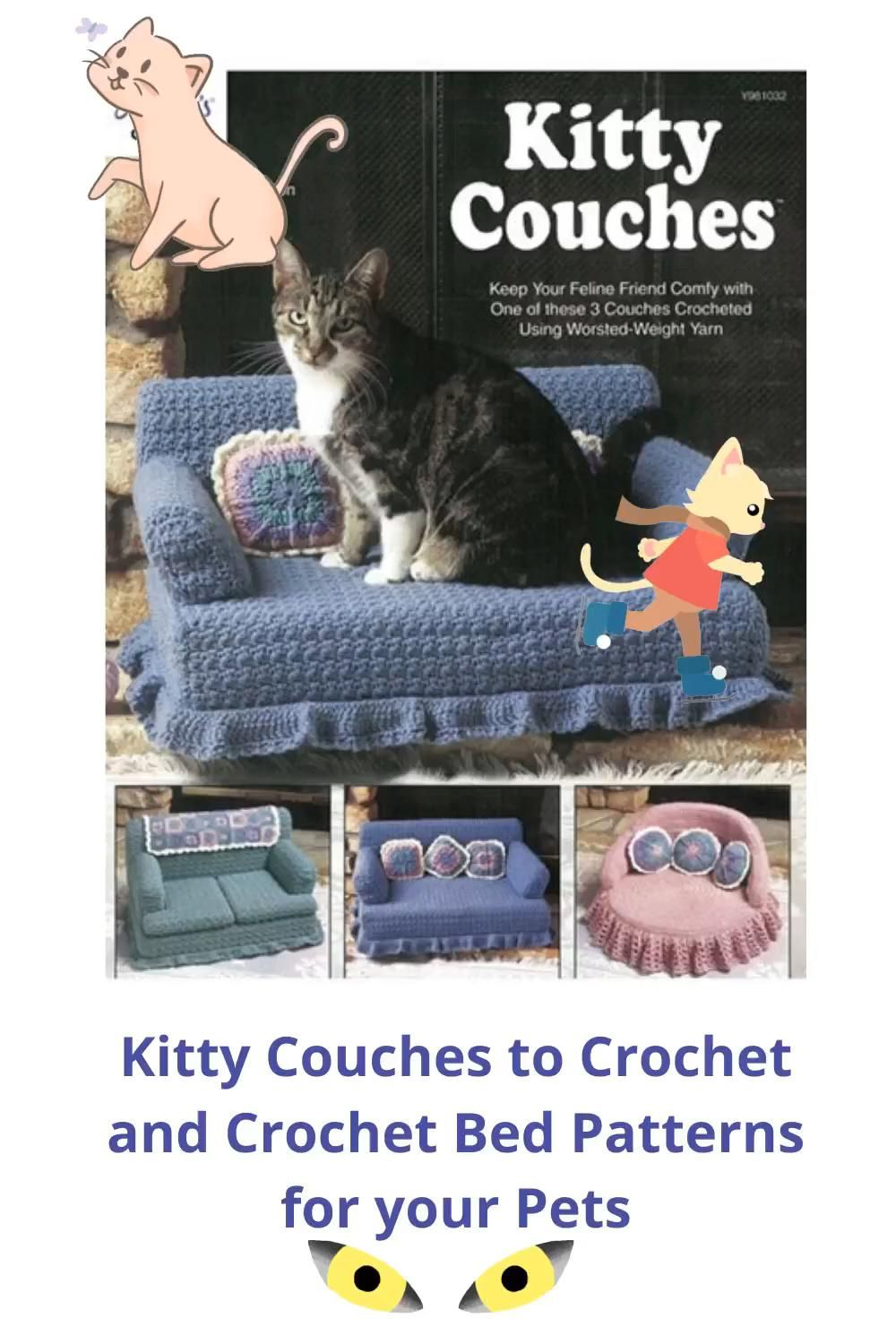 Kitty Couches And Pet Beds Patterns To Crochet Video In 2020 Crochet Patterns Pet Bed Pattern Crochet