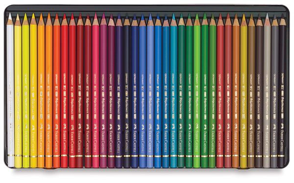 Faber Castell Polychromos Pencil Set Assorted Colors Tin Box