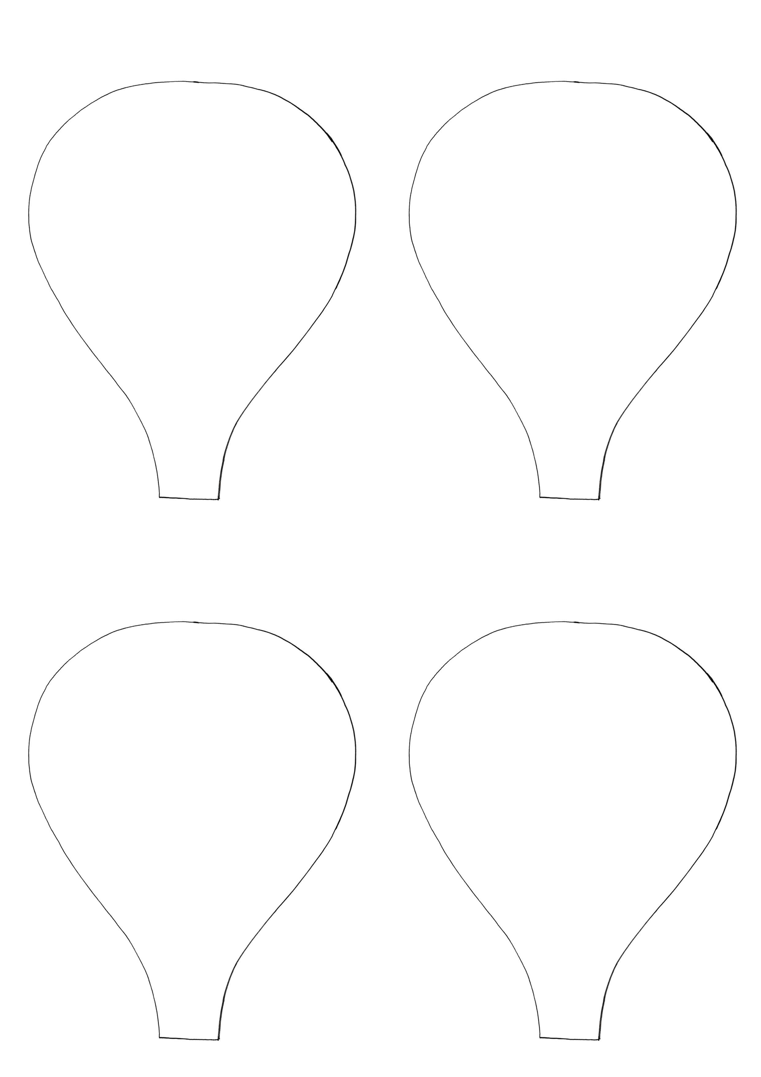 Images For > Hot Air Balloon Template   decoracion   Pinterest ...