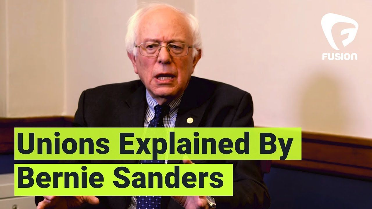 Bernie Sanders Explains Unions To Young People Bernie Sanders Democratic Socialism Young People