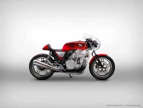 Honda CB1100 Cafe Racer Vetro By Jakusa Motorcycle Design