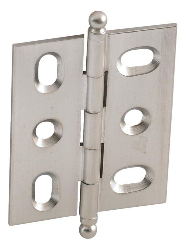 Hafele 354 17 Elite Full Inset Mortised Cabinet Door Hinge With Ball Finial Brushed Nickel