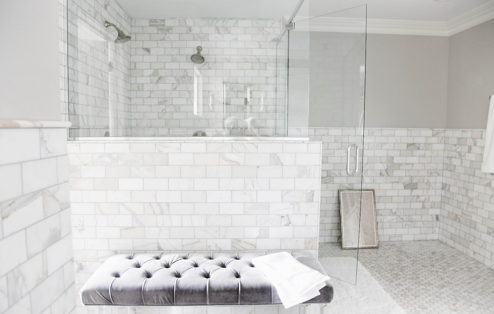 How Much Does It Cost To Tile A Shower White Marble Bathrooms