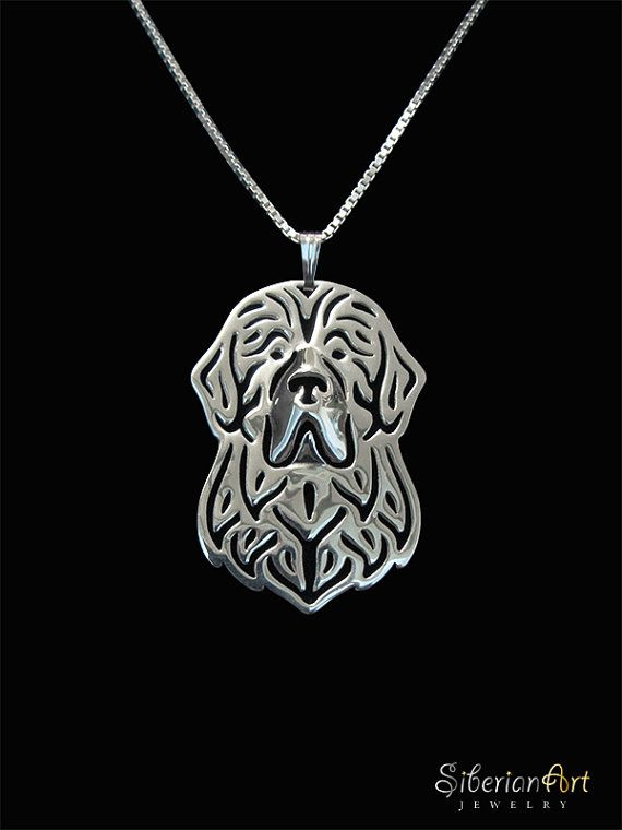 Photo-Jewelry Handmade Newfoundland Dog Pendant for Dog Lovers