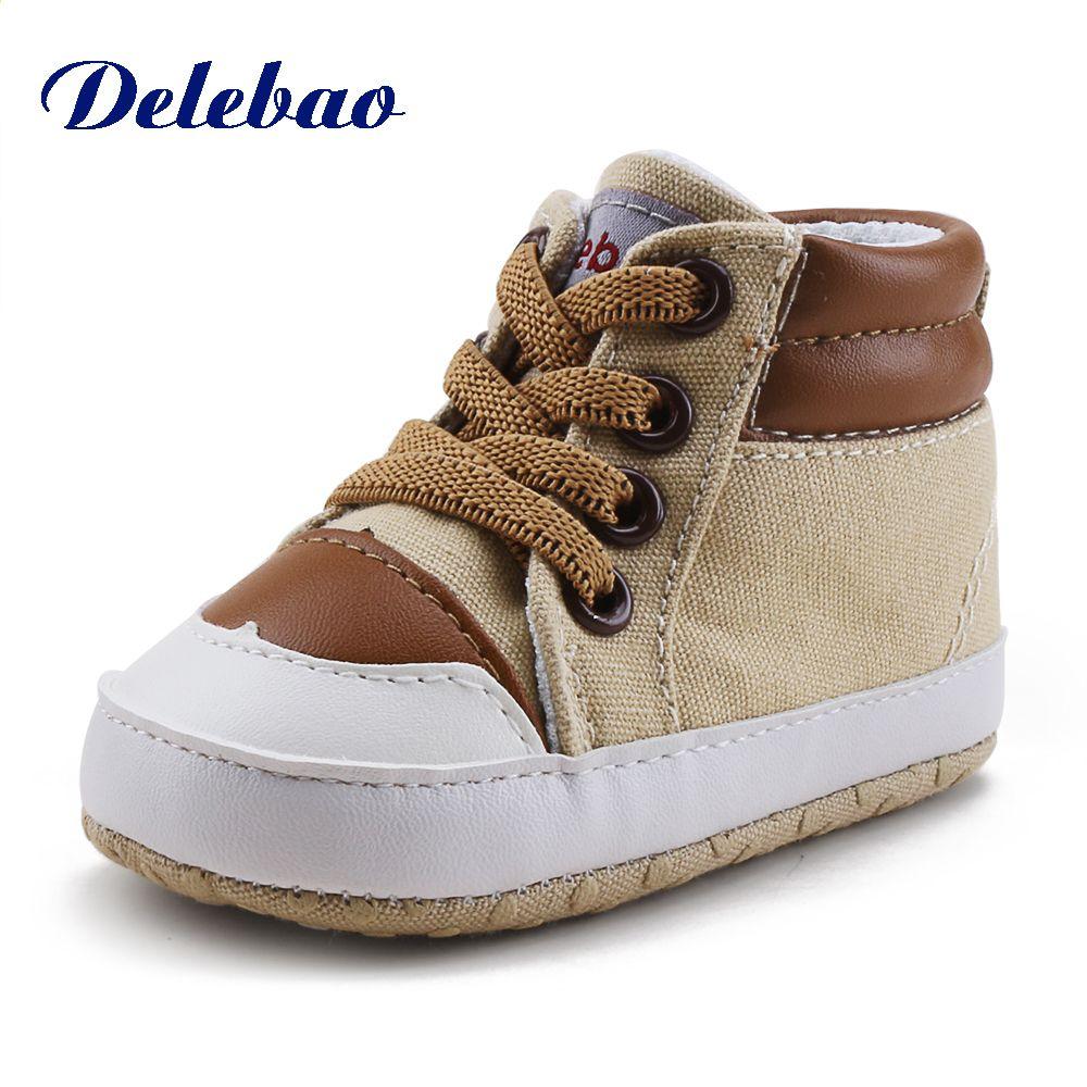 Noworodka Toddlers Prewalkers Sznurowane Wiosna Jesien Niemowle Chlopiec Dziewczyna Trampki Tkanina Bawelniana M Baby Shoes Soft Sole Baby Shoes Girls Sneakers
