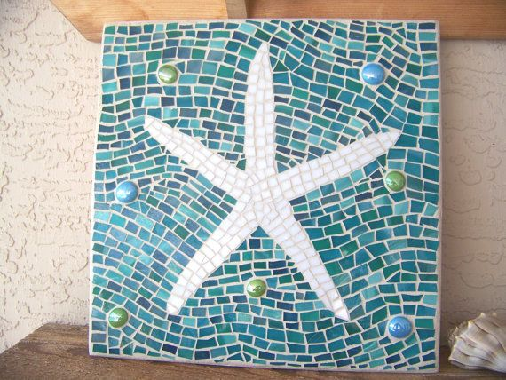Mosaic Starfish Wall Art For Your Beach Home Decor On Sale Now Use Coupon Code Gifts Save 15 Glass Mosaic Art Mosaic Art Stained Glass Mosaic Art