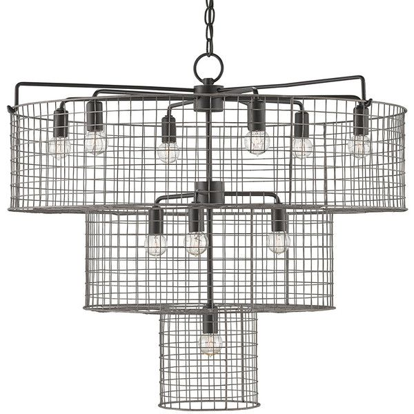 Lighting - Industrial 3-Tiered Chandelier