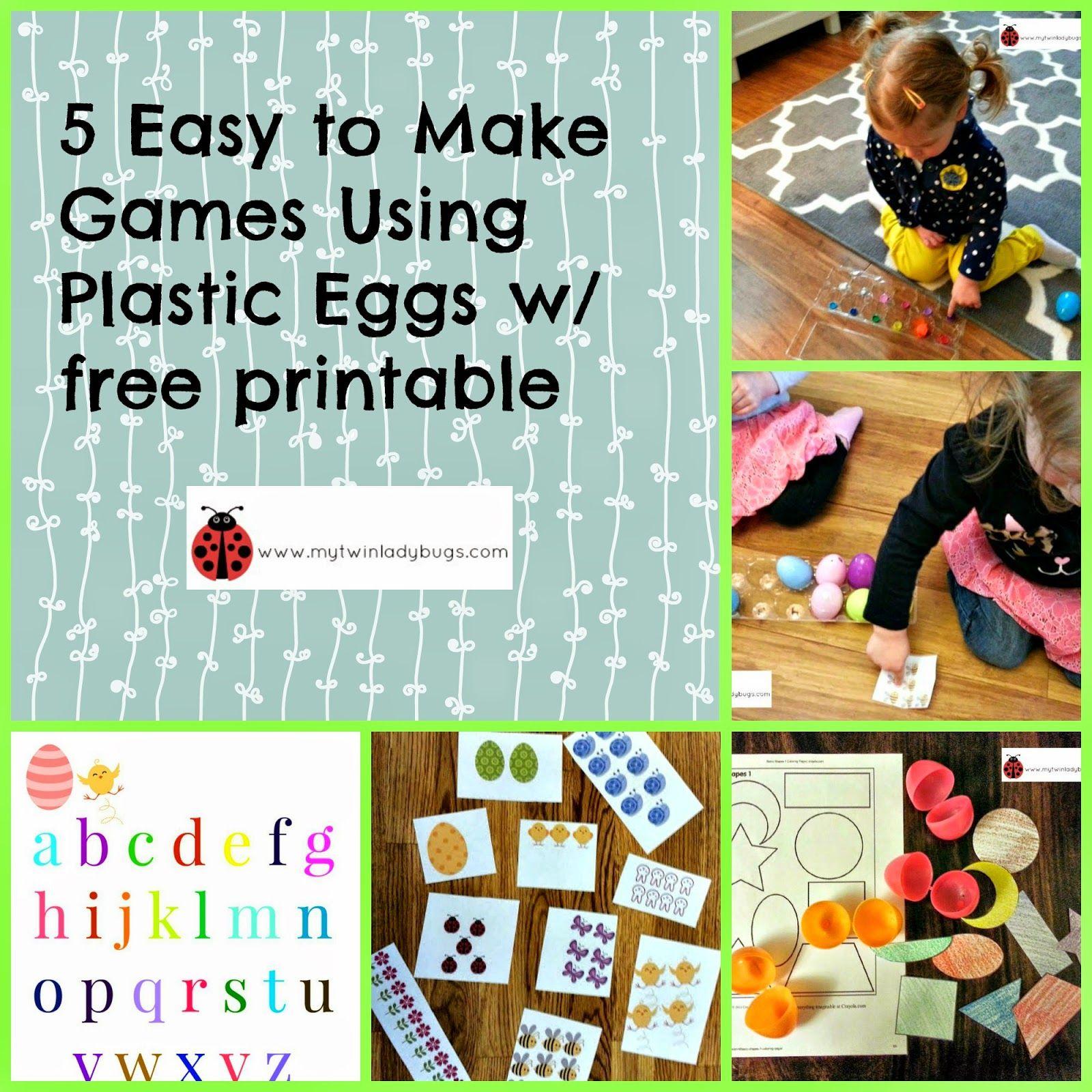 5 Easy To Make Games Using Plastic Easter Eggs For