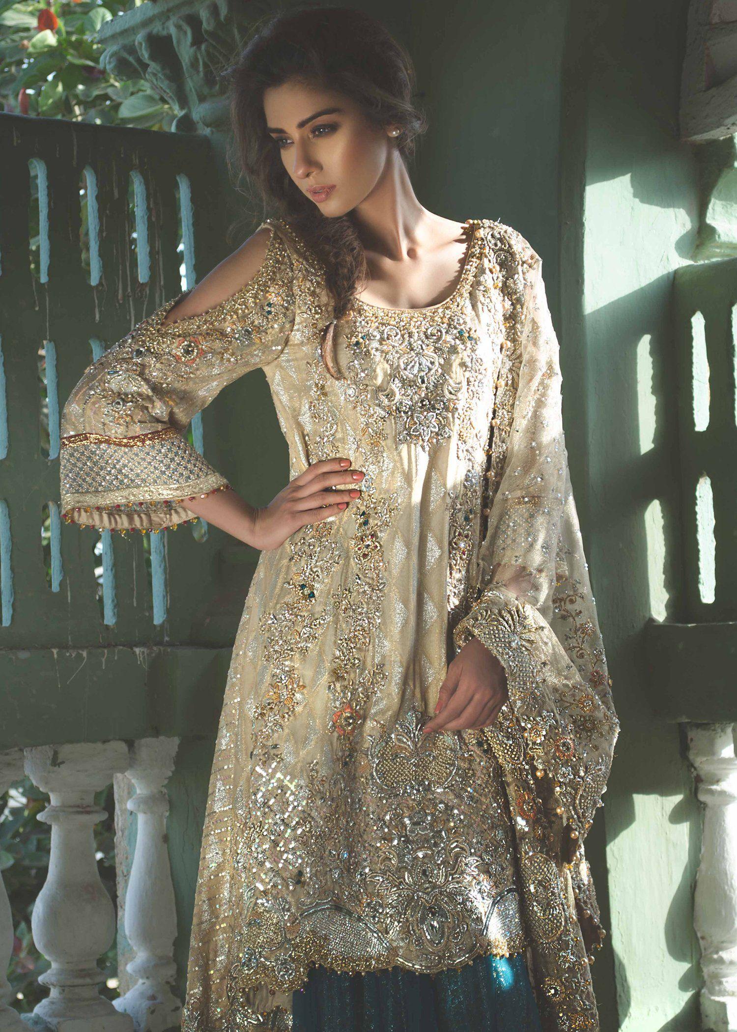Pakistani bridal dress with dhaka pajama for wedding