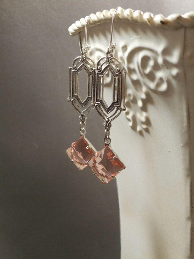 jewelry 1920s | Art Deco Earrings Great Gatsby Jewelry 1920s by BohemeBijou