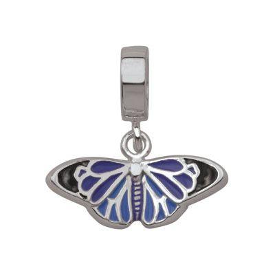Persona Sterling Silver Enamel Butterfly Dangle Bead - Zales