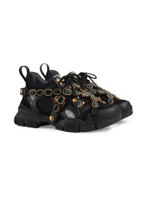 51363bd8f75 Gucci Flashtrek Sneakers With Removable Crystals in 2019 | SNEAKERS ...