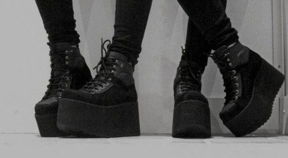 Goth platform shoes