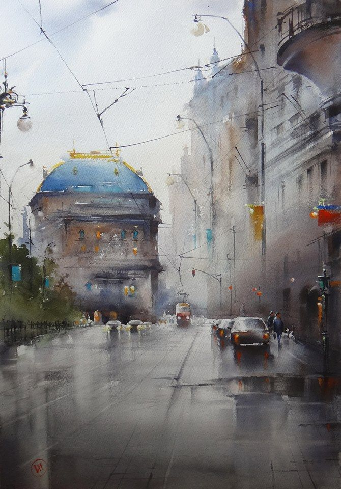 Ilya Ibryaev Day 2 Prague Watercolor Landscape Watercolor