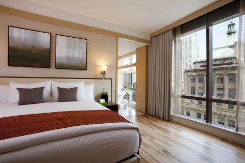 West 57th Street By Hilton Club Is Hilton Grand Vacations Newest Hotel In The Heart Of Midtown Manhattan Reaching 28 Stories Wi City Bedroom Hotel City Hotel