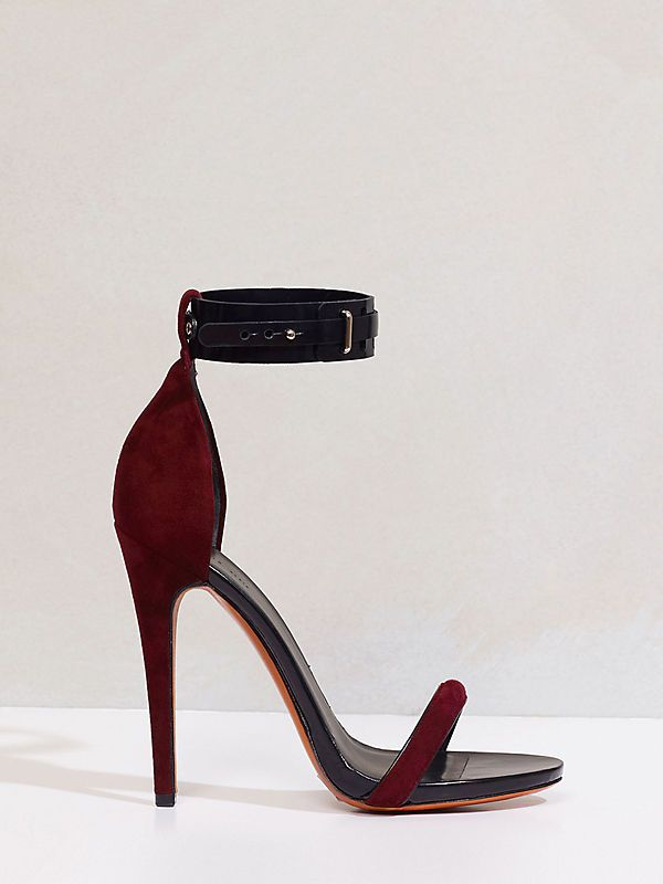 Celine Sandals In Oxblood The Color Suede Clothes
