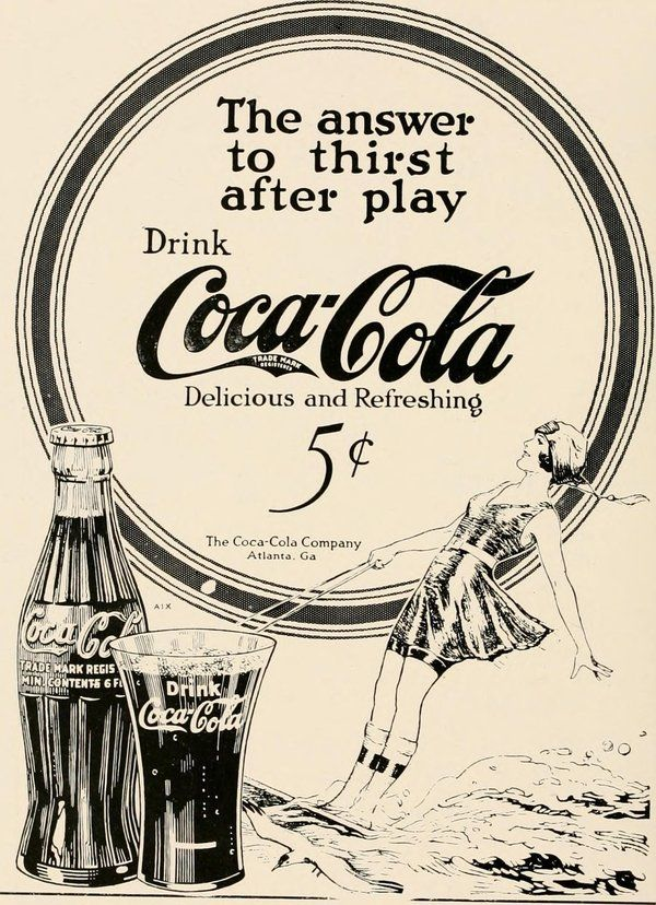 An add for Coca-Cola in The PaC-SaC, a student publication from the Presbyterian College of South Carolina, circa 1922.