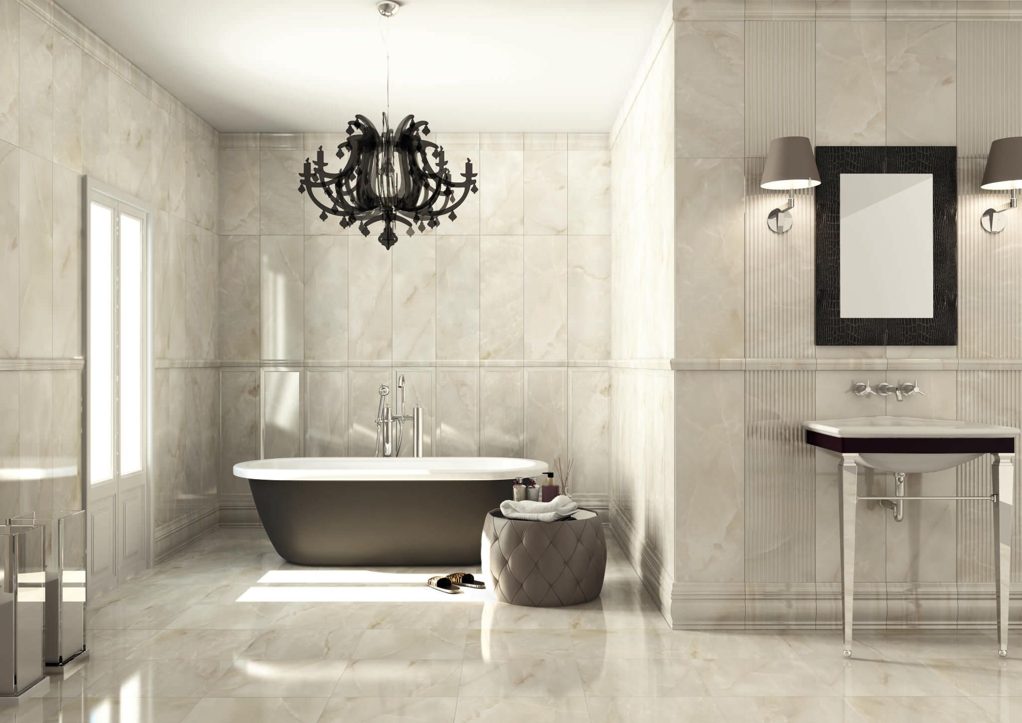 Moderne Badezimmer Kronleuchter Zu Modernisieren Ihr Bad Bano De Lujo Moderno Bano De Granito Modelos De Banos
