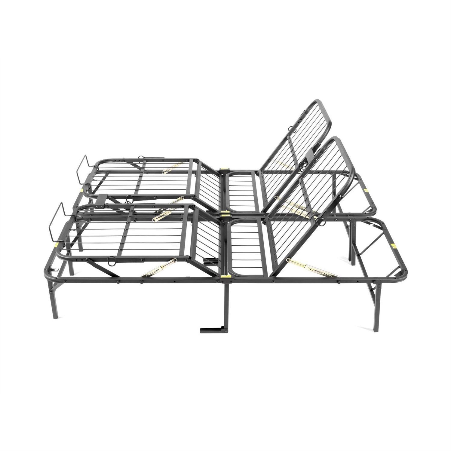 This Queen size Manually Adjustable Bed Frame brings a