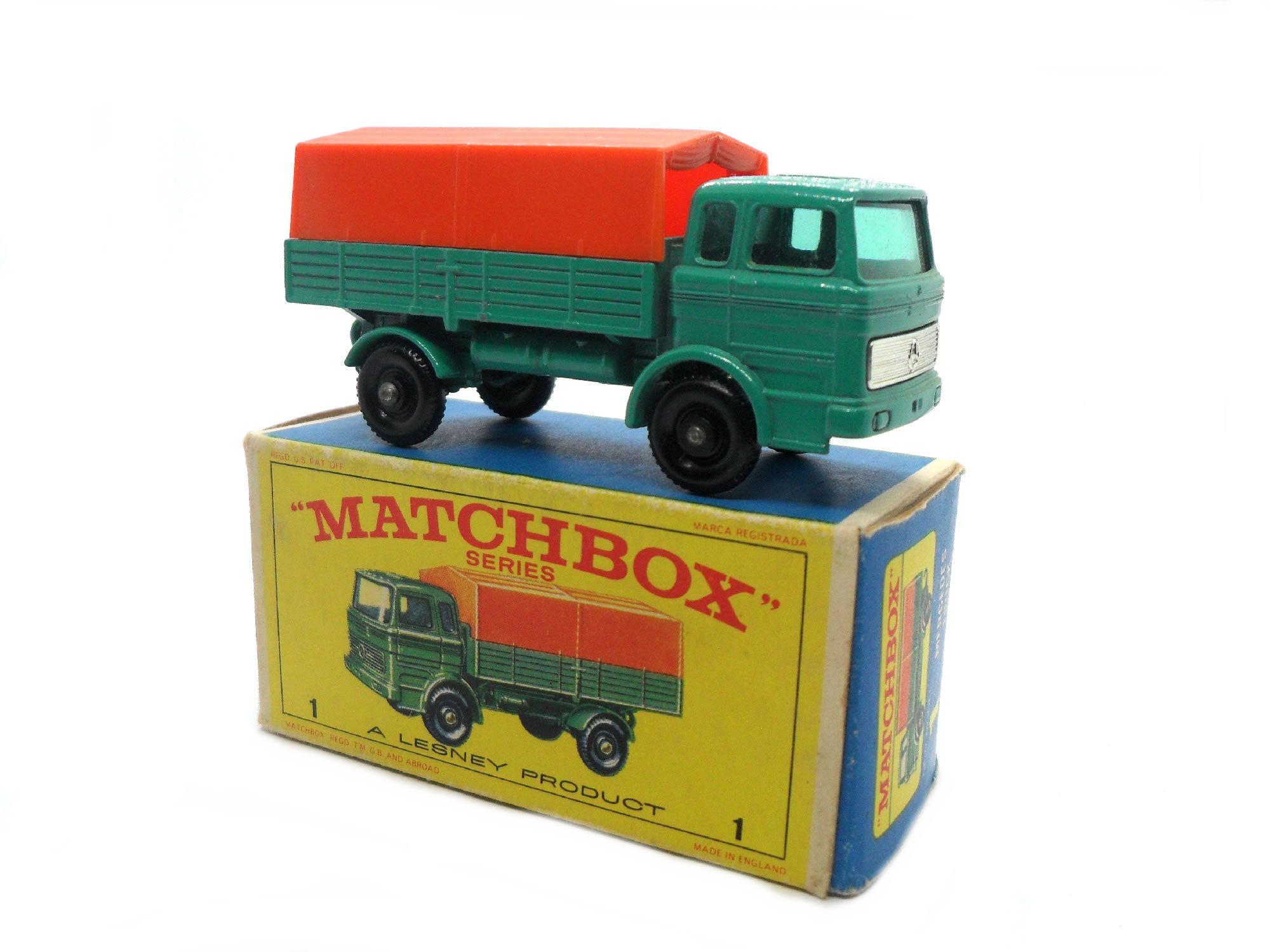 1950s Vintage Matchbox Lesney 1e Mercedes Truck toy