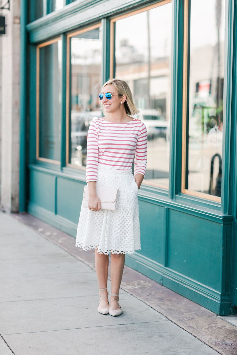 Stripes & Eyelet - Lemon Stripes