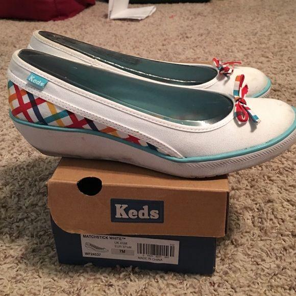 Colorful Keds wedges   Keds, White keds