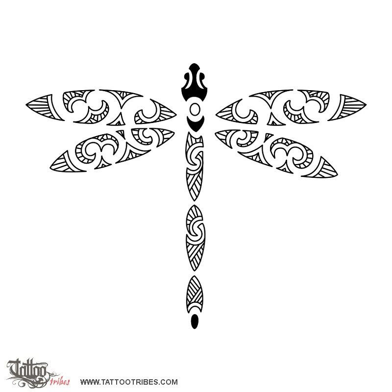 I Love The Tribal Look Of This One I Think This Would Look Great Stenciled On A Rock Or Flagstone By A Pond Or Water Fea Maori Tattoo Dragonfly Tattoo Tattoos