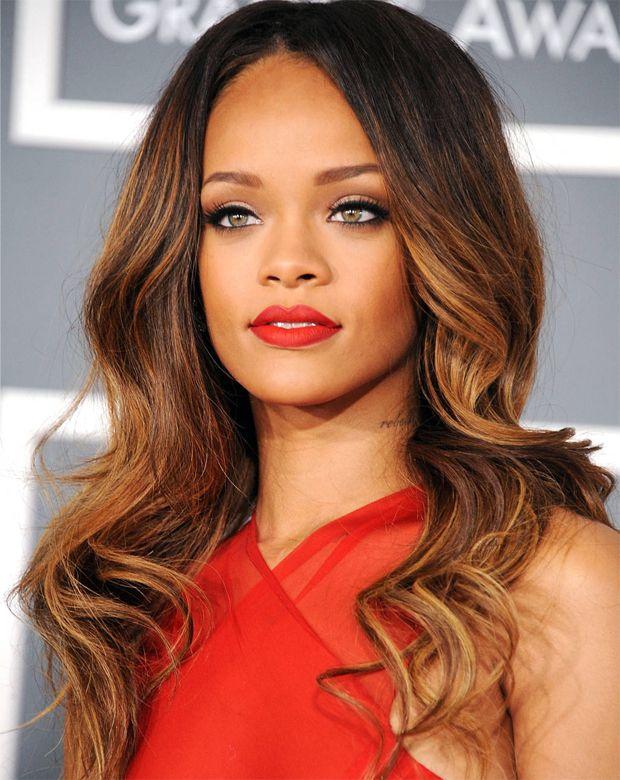 Rihanna Gorgeous Brown Hair Brown Hair Rihanna And Long Locks