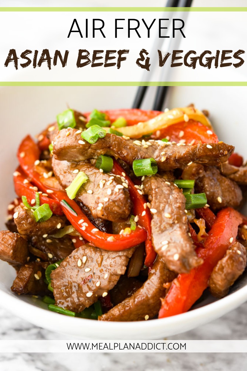 Air Fryer Asian Beef and Veggies  Asian Beef and Vegetables  Air Fryer Recipes  Air Fryer Beef  Asian Beef  Asian Recipes  Freezer Meal  Meal Plan Addict  Spicy curries c...
