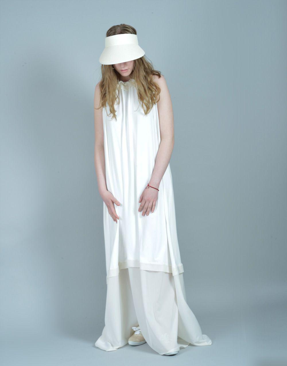 White Dress, Chiffon Dress, Summer Dress, Draped Dress, Sleeveless ...