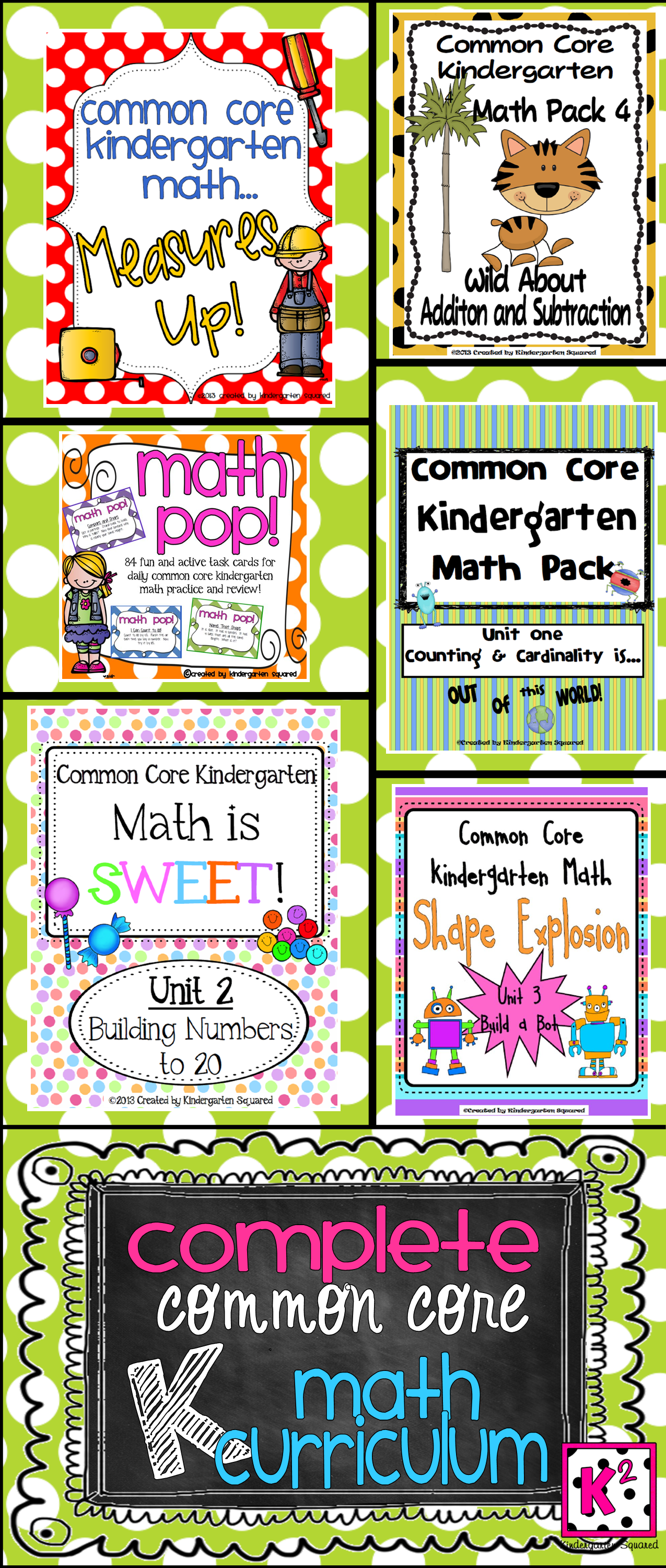 Complete Common Core Kindergarten Math Curriculum