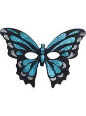 Glitter Blue Butterfly Mask