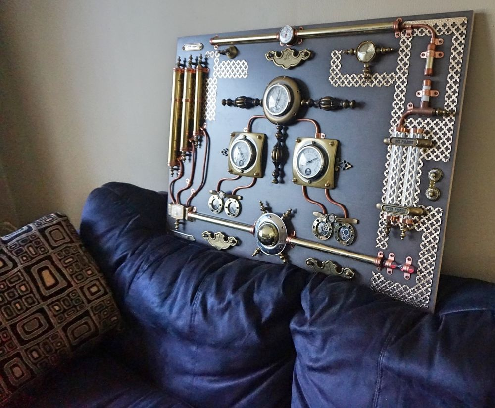 Industrial Wall Art Modern,abstract Industrial Art.control Panel.steampunk,wall  Art