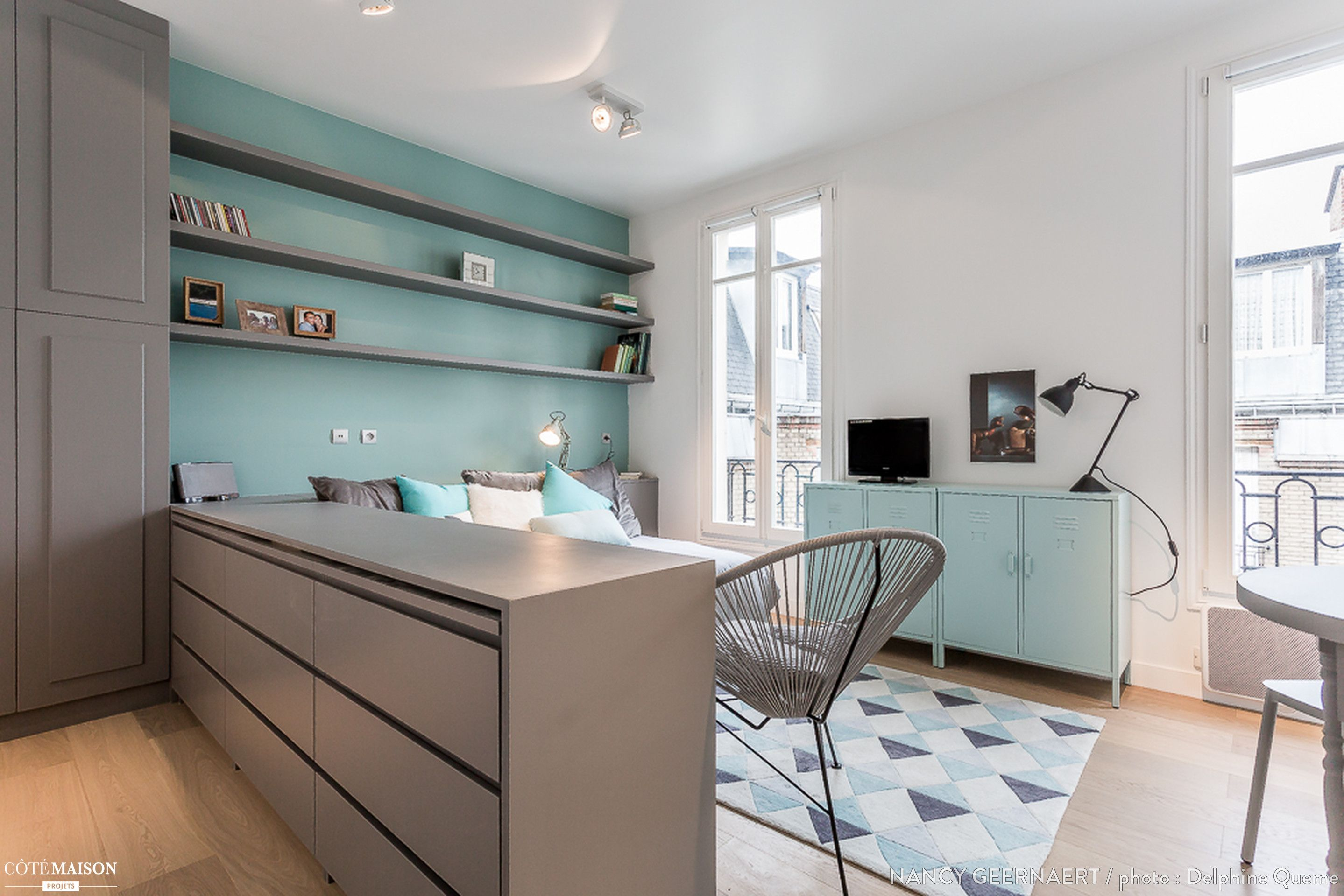 projet de r novation et d coration d 39 un studio de 20m2 dans le 8e arrondissement de paris avant. Black Bedroom Furniture Sets. Home Design Ideas