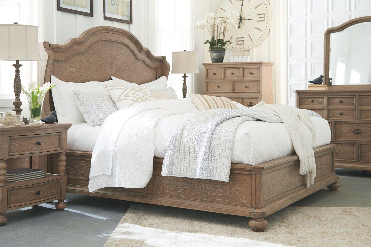 Ollesburg Queen Panel Bed Ashley Furniture Homestore Queen Panel Beds Panel Bed Ashley Furniture Bedroom
