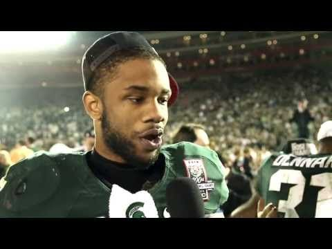 Michigan State Celebrates Its Victory In The 100th Rose Bowl Game Youtube Rose Bowl Game Michigan State Rose Bowl