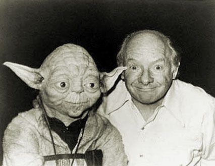 "The creator of Yoda: ""I made Yoda's face based on mine, but with more wrinkles to look wiser"" : )   (Photo of Stuart Freeborn working on Yoda :: http://www.galacticbinder.com/images/Spina/Freeborn_Yoda.jpg : )"