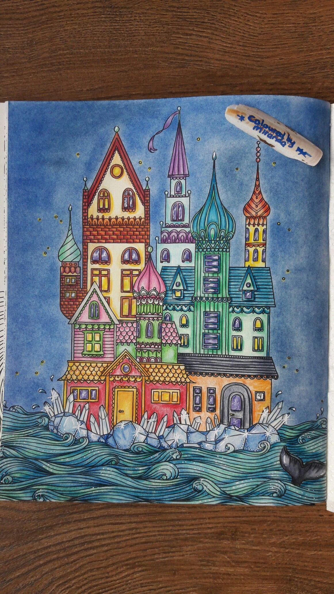 Hannakarlzon Sommarnatt Faber Castell Polychromos And Chalk Pastels Posca Coloring Books Chalk Pastels Coloring Book Pages
