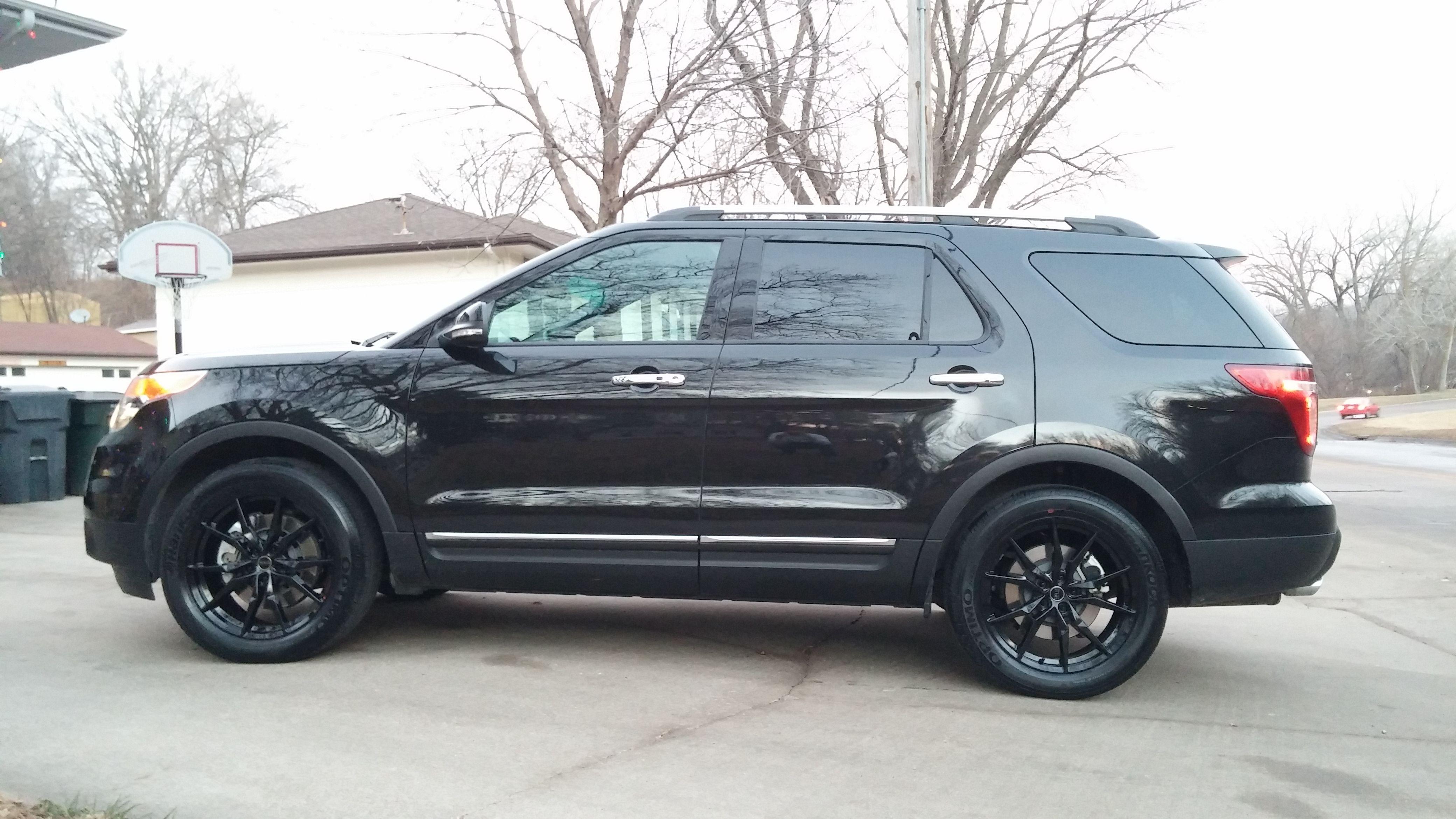 2015 ford explorer black status toro 20 wheels