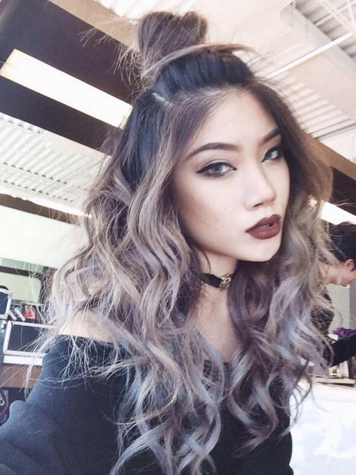 Grey Ombre Hair Tumblr Cheveux Ombre Gris Couleur Cheveux