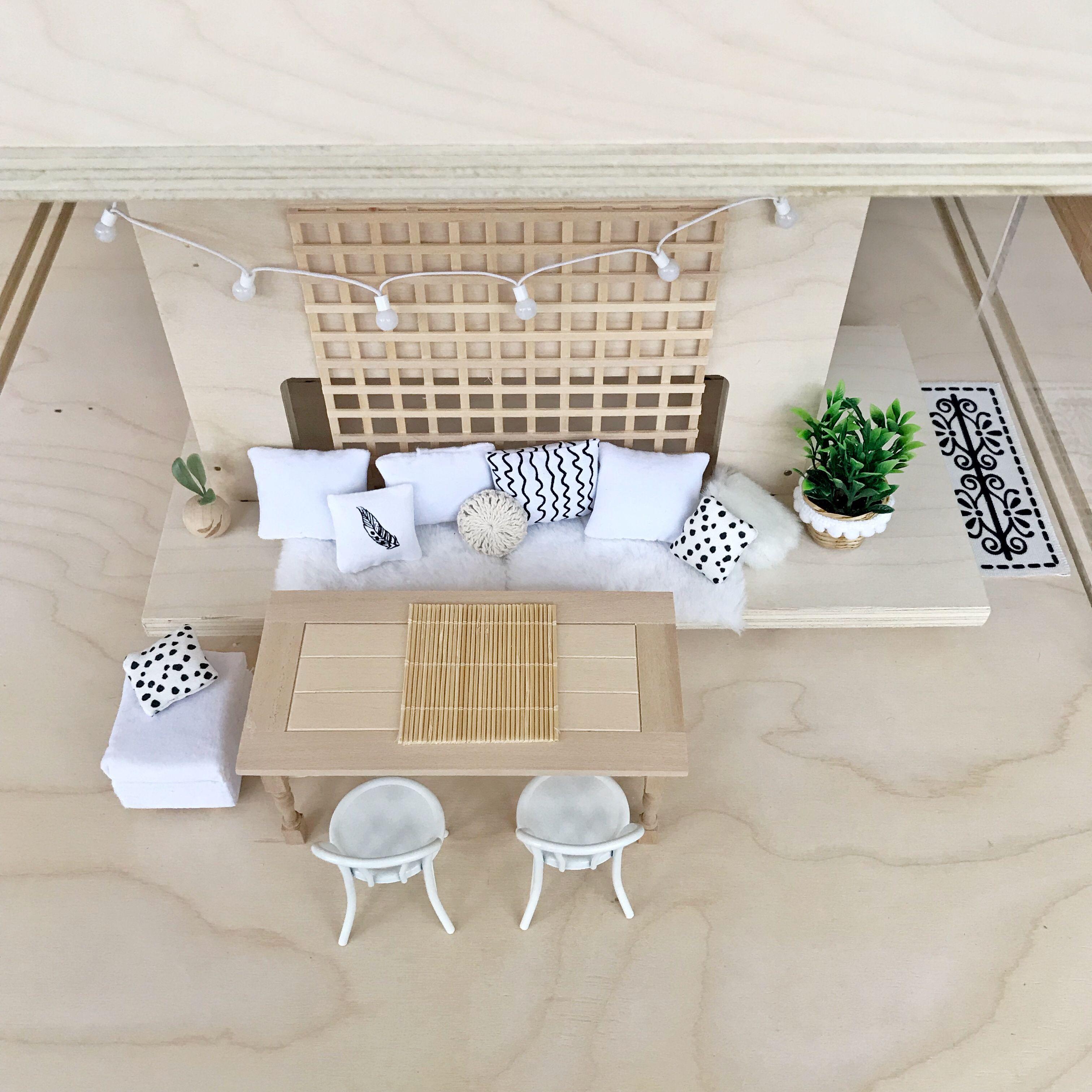 Modern dollhouse dining area