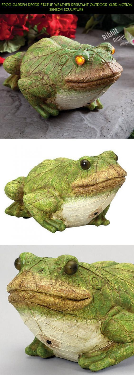 Frog Garden Decor Statue Weather Resistant Outdoor Yard Motion ...