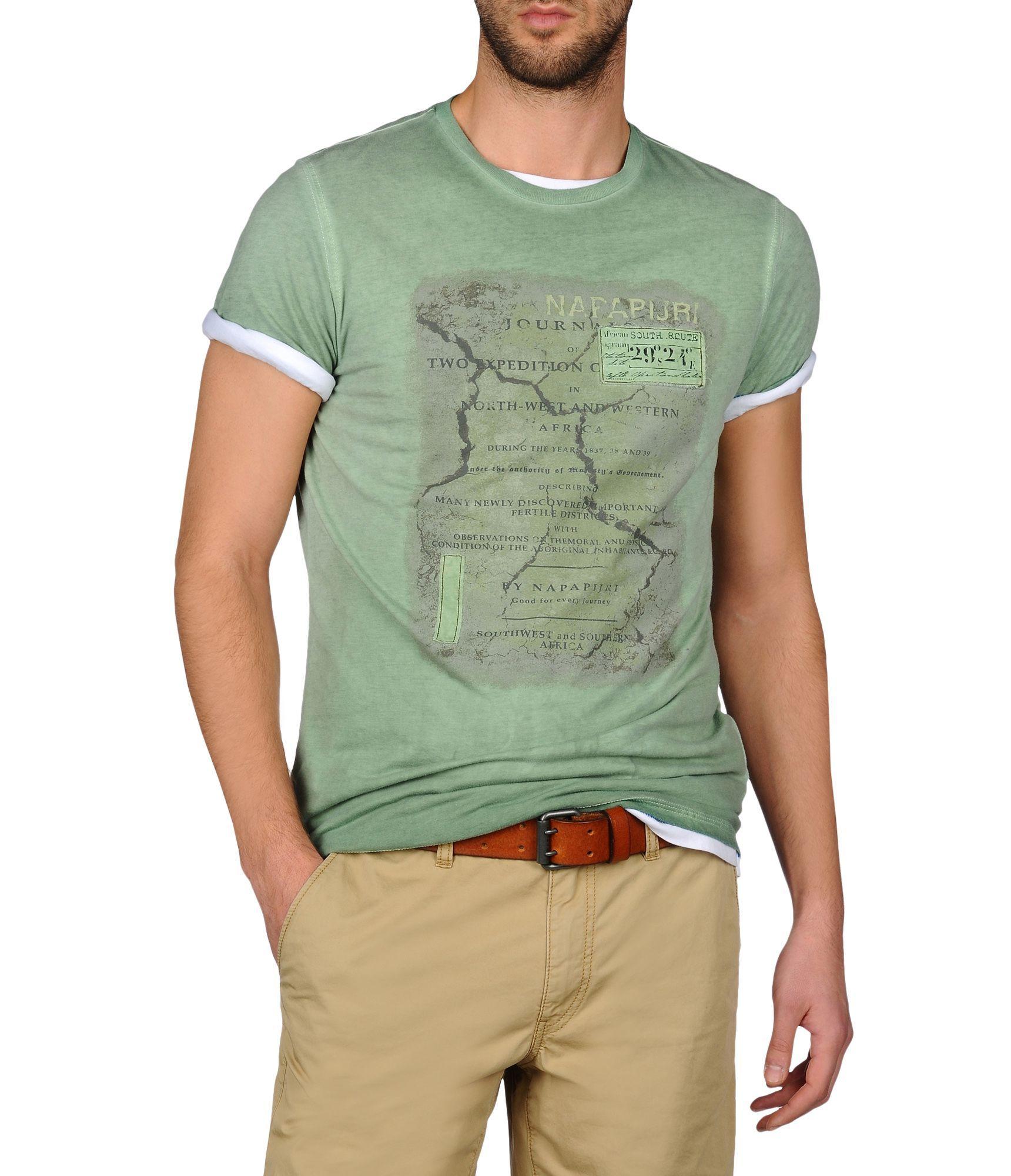 5e1b4aeed2ba Check out Napapijri STEMPOST Short Sleeve t Shirt Men