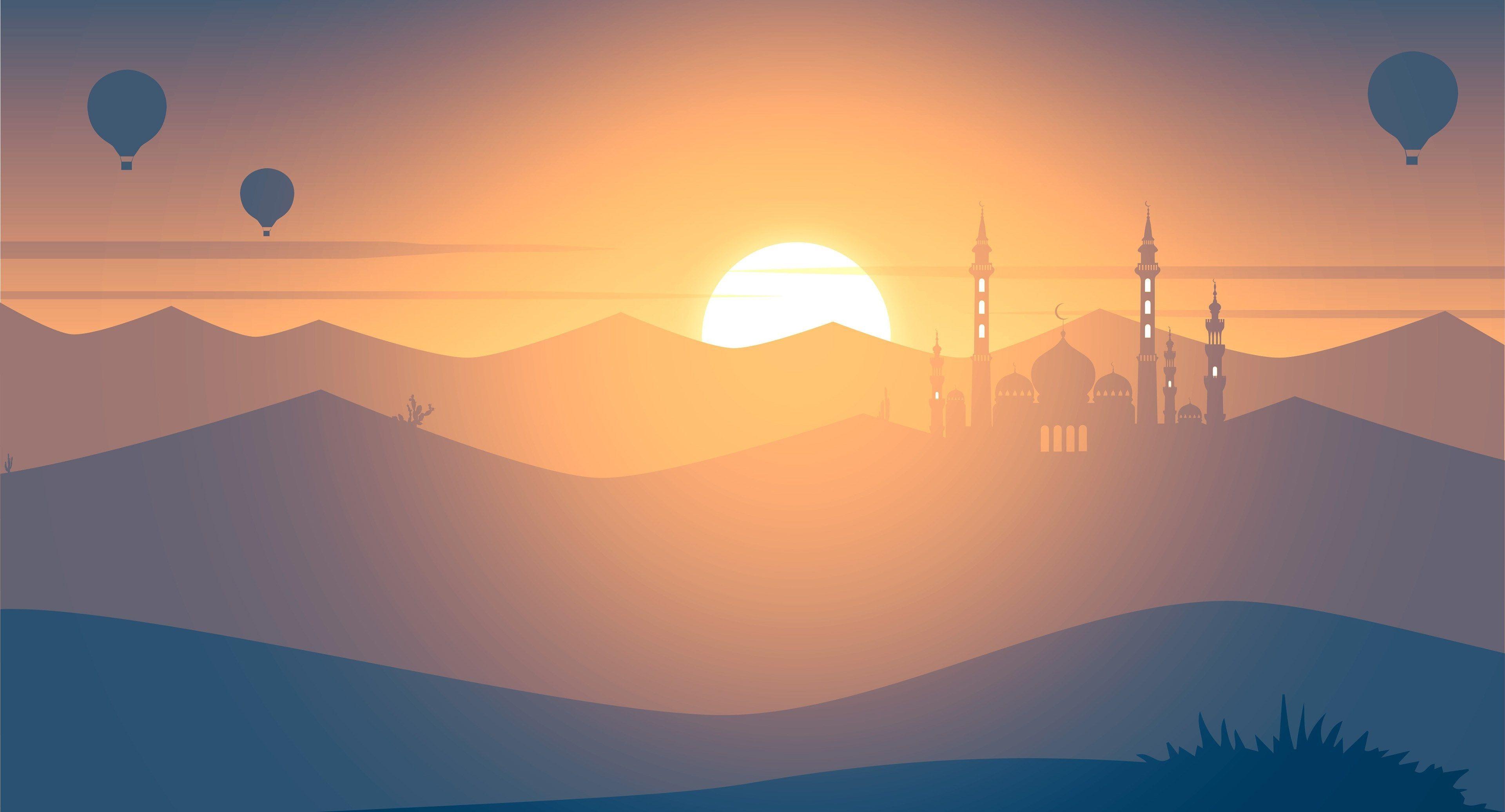 3840x2073 Sunset 4k Backgrounds Images Islamic Wallpaper Hd Background Images Minimalist Wallpaper
