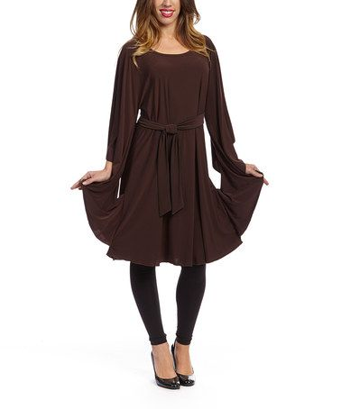 Loving this Chocolate Bell-Sleeve Tunic - Women on #zulily! #zulilyfinds