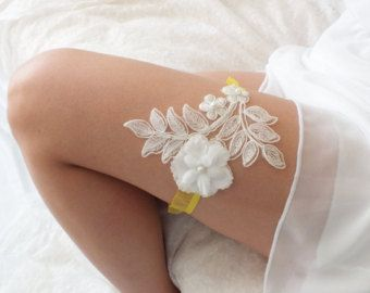 free ship blue lace garter bridal garter by ByMiracleBridal
