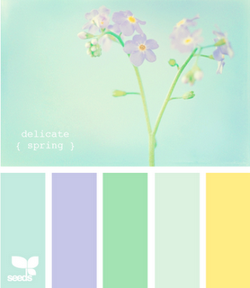 A Little Girls Room Colors Delicate Spring Color Palette Via Design Seeds.  This Light, Airy Color Combination Is Superb! The Green, Blue Hues Mix So  Perfect ... Design Inspirations
