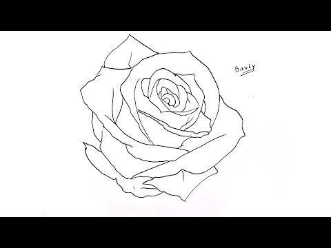 تعليم الرسم للاطفال كيف ترسم وردة خطوة بخطوة للمبتدئين Youtube Art Drawings Diy Roses Art