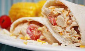 Southwest chicken salad wraps