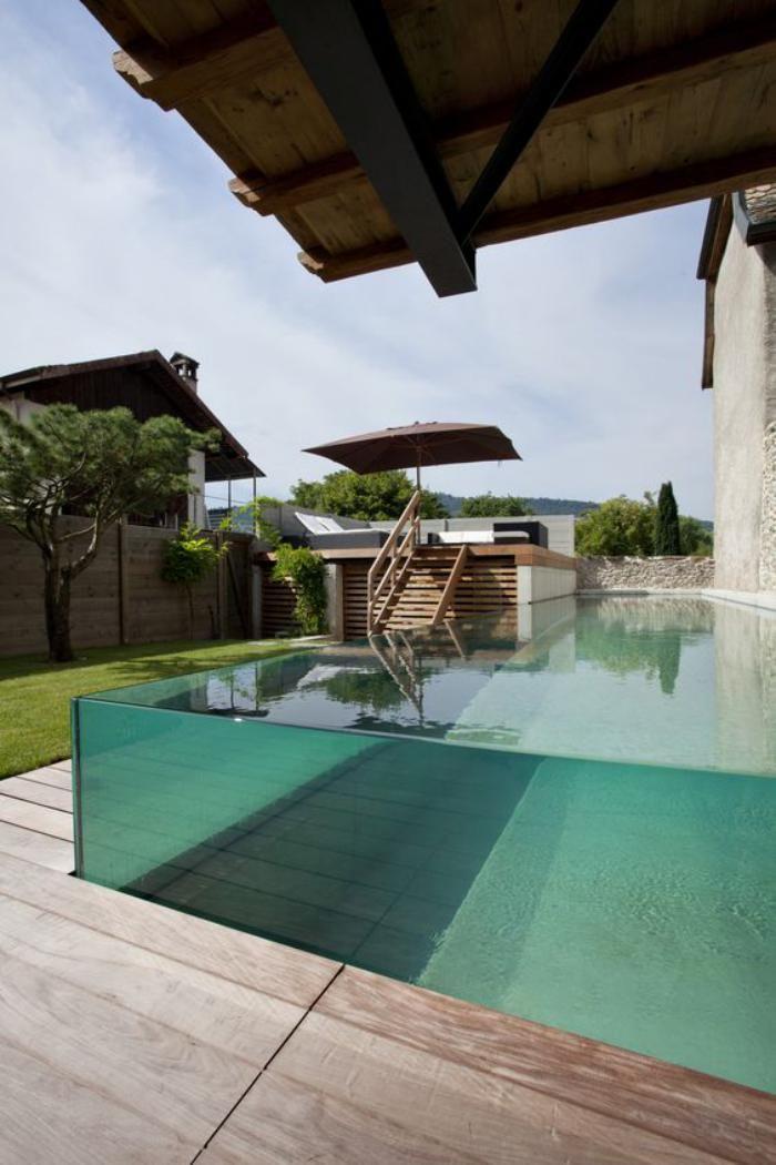 la piscine en verre en 43 photos minipools piscina de. Black Bedroom Furniture Sets. Home Design Ideas